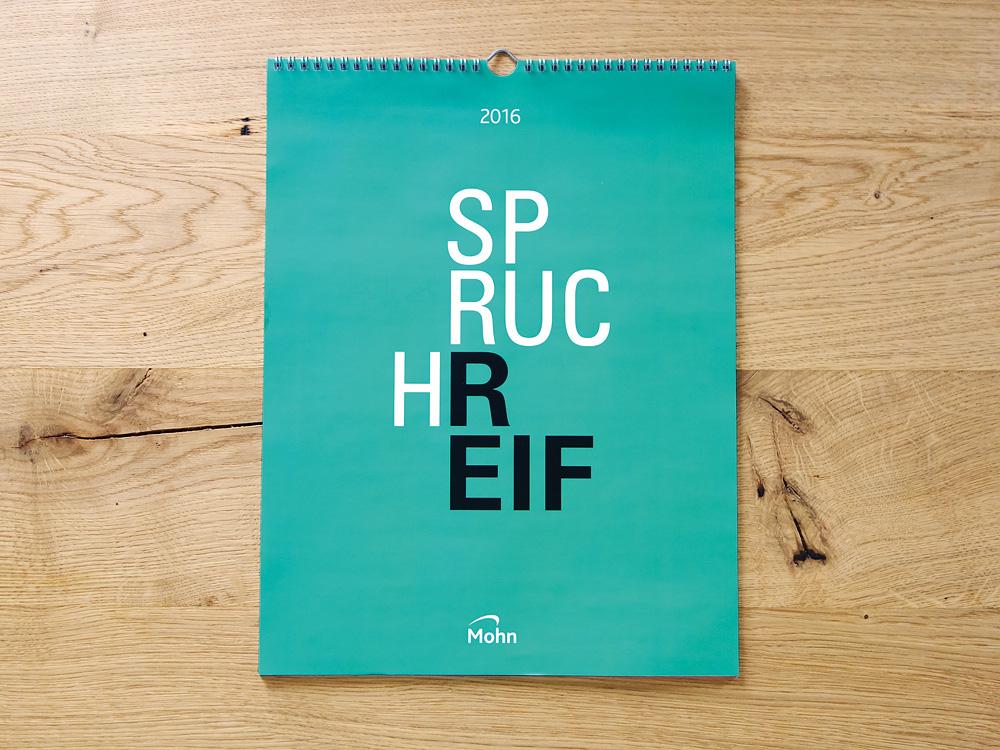 Spruchreif Kalender